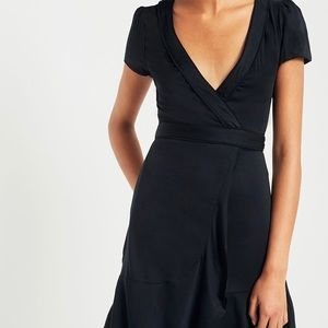 Kimchi Blue Black Wrap Dress Size S